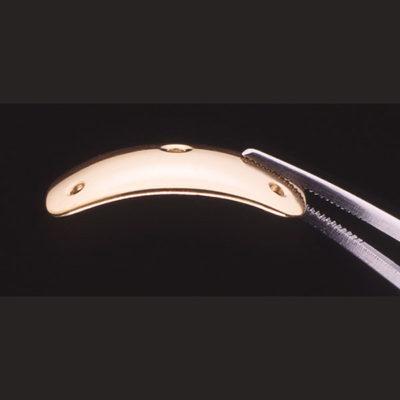 Prothèses palpébrales profilées en or