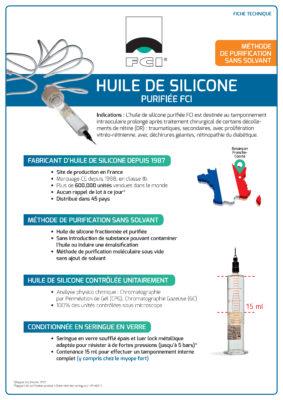 Vignette Plaquette Huile de silicone purifiée FCI