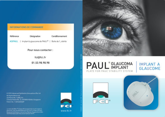 Vignette Plaquette Implant à glaucome de Paul®