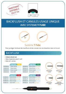 Vignette Plaquette Backflush et Canules T-Tube